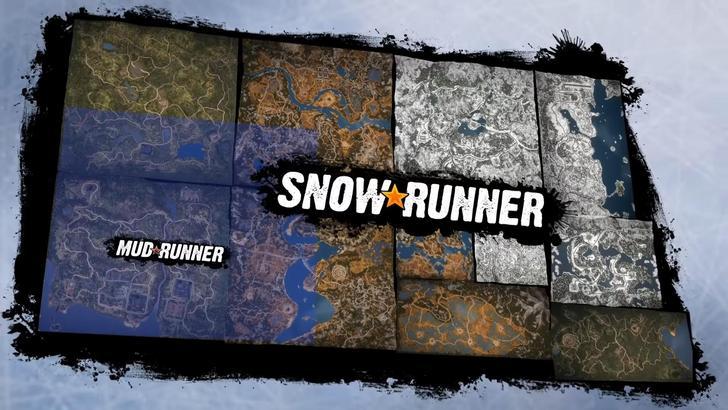 SnowRunner Trailer to oda do regionów i mapy